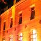 Die Burg zu Weißensee leuchtet im weihnachtlichen Glanz